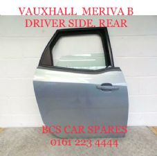 VAUXHALL MERIVA B DOOR     REAR   DRIVER SIDE   2015 - 2017  PRE OWNED